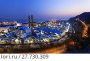 Купить «power station night», фото № 27730309, снято 20 сентября 2018 г. (c) PantherMedia / Фотобанк Лори