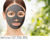 Купить «beautiful young woman with hydrogel mask on face», фото № 27732353, снято 2 апреля 2011 г. (c) Syda Productions / Фотобанк Лори