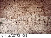 Купить «cracked brick wall texture background. Vintage effect.», фото № 27734689, снято 17 августа 2018 г. (c) PantherMedia / Фотобанк Лори