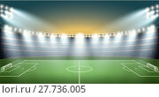 Купить «Soccer Stadium with spot light. vector», иллюстрация № 27736005 (c) PantherMedia / Фотобанк Лори