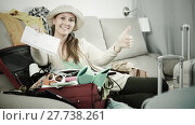Купить «Woman getting ready for holidays», фото № 27738261, снято 21 марта 2017 г. (c) Яков Филимонов / Фотобанк Лори