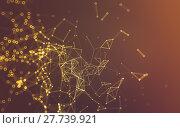 Купить «Abstract polygonal space low poly dark background, 3d rendering», фото № 27739921, снято 25 апреля 2019 г. (c) PantherMedia / Фотобанк Лори