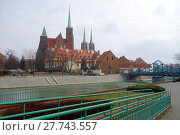 Купить «wroclaw cathedral and kreuzkirche», фото № 27743557, снято 23 мая 2019 г. (c) PantherMedia / Фотобанк Лори
