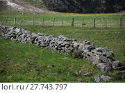 Купить «fence,pasture,fence,stone fence,picket fence,wooden fence,wire fence,electric fence», фото № 27743797, снято 19 марта 2019 г. (c) PantherMedia / Фотобанк Лори