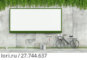 Купить «Blank street billboard on grunge wall», фото № 27744637, снято 13 июля 2020 г. (c) PantherMedia / Фотобанк Лори