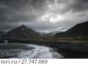 Купить «Seascape in the Stokknes area, Iceland», фото № 27747069, снято 25 февраля 2020 г. (c) PantherMedia / Фотобанк Лори