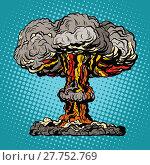 Купить «Nuclear explosion radioactive mushroom pop art», фото № 27752769, снято 19 февраля 2018 г. (c) PantherMedia / Фотобанк Лори