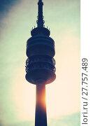 Купить «Communications Tower At Sunset», фото № 27757489, снято 24 февраля 2019 г. (c) easy Fotostock / Фотобанк Лори