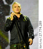 Morrissey performing at the Way Out West Festival in Gothenburg (2016 год). Редакционное фото, фотограф WENN.com / age Fotostock / Фотобанк Лори