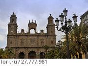 Купить «cathedral of las palmas», фото № 27777981, снято 27 мая 2019 г. (c) PantherMedia / Фотобанк Лори