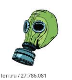 Купить «Gas mask, vintage rubber green, White background», фото № 27786081, снято 18 июня 2019 г. (c) PantherMedia / Фотобанк Лори