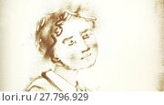 Купить «Sand drawing of a human aging from baby to old man», видеоролик № 27796929, снято 30 сентября 2015 г. (c) Алексей Кузнецов / Фотобанк Лори