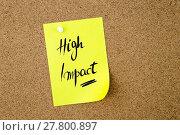 Купить «Business Acronym HI High Impact», фото № 27800897, снято 14 августа 2018 г. (c) PantherMedia / Фотобанк Лори