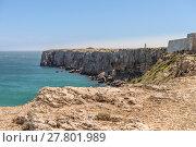Купить «Coastline and beach in Sagres, Algarve, Portugal», фото № 27801989, снято 18 июня 2019 г. (c) PantherMedia / Фотобанк Лори