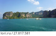 Купить «tonsai bay on ko phi phi», фото № 27817581, снято 15 декабря 2018 г. (c) PantherMedia / Фотобанк Лори