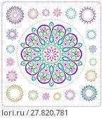 Купить «set of mandala illustration», иллюстрация № 27820781 (c) PantherMedia / Фотобанк Лори
