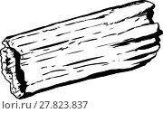 Купить «Single hollow rotting log outline», фото № 27823837, снято 23 января 2019 г. (c) PantherMedia / Фотобанк Лори