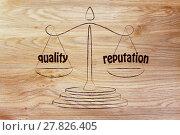 Купить «finding a good balance in business: quality & good reputation», фото № 27826405, снято 19 февраля 2018 г. (c) PantherMedia / Фотобанк Лори