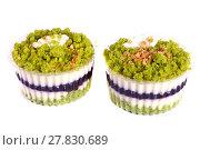 Купить «Two cupcakes», фото № 27830689, снято 9 декабря 2017 г. (c) Art Konovalov / Фотобанк Лори