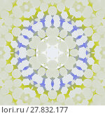 Купить «Abstract geometric seamless background. Silver gray concentric ornament with lime green, purple, dark gray and white elements, modern and delicate.», фото № 27832177, снято 21 октября 2018 г. (c) PantherMedia / Фотобанк Лори