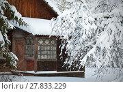 Дом в заснеженном саду. Стоковое фото, фотограф Вера Чумакова / Фотобанк Лори