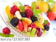 Купить «Fresh fruit salad.», фото № 27837581, снято 14 декабря 2018 г. (c) PantherMedia / Фотобанк Лори
