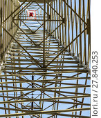 Купить «high voltage electricity pylons against blue sky and cloud», фото № 27840253, снято 20 марта 2019 г. (c) PantherMedia / Фотобанк Лори