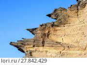 Купить «volcanic stone formation with blue sky at el Golfo», фото № 27842429, снято 22 апреля 2019 г. (c) PantherMedia / Фотобанк Лори