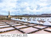 Купить «salt piles in the saline of Janubio», фото № 27843305, снято 20 июня 2018 г. (c) PantherMedia / Фотобанк Лори