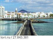 Купить «sea view at Castle of San Gabriel and Arrrecife, Lanzarote, Canary Islands», фото № 27843381, снято 16 декабря 2018 г. (c) PantherMedia / Фотобанк Лори