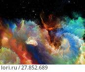 Купить «Virtual Space Nebula», фото № 27852689, снято 20 июля 2018 г. (c) PantherMedia / Фотобанк Лори