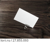 Купить «Photo of blank business card», фото № 27855093, снято 16 января 2019 г. (c) PantherMedia / Фотобанк Лори