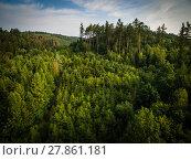 Купить «Aerial view of vast forests», фото № 27861181, снято 19 октября 2019 г. (c) PantherMedia / Фотобанк Лори