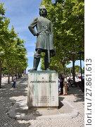 Купить «Joao (Joan) Afonso de Aveiro monument, Portugal», фото № 27861613, снято 10 июня 2017 г. (c) Знаменский Олег / Фотобанк Лори