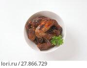 Купить «barbecue chicken wings», фото № 27866729, снято 16 февраля 2019 г. (c) PantherMedia / Фотобанк Лори