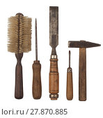 Купить «Old tools with wooden handles», фото № 27870885, снято 22 апреля 2019 г. (c) PantherMedia / Фотобанк Лори