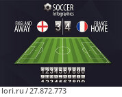 Купить «Soccer field with scoreboard», иллюстрация № 27872773 (c) PantherMedia / Фотобанк Лори