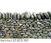 Купить «wall border stonewall delimitation enclosure», фото № 27873181, снято 24 марта 2018 г. (c) PantherMedia / Фотобанк Лори