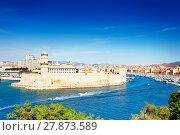 Купить «Scenic view of Fort Saint-Jean, Marseille, France», фото № 27873589, снято 18 июля 2017 г. (c) Сергей Новиков / Фотобанк Лори