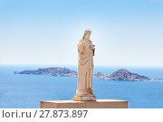 Купить «Statue of Jesus Christ in Marseille, France», фото № 27873897, снято 18 июля 2017 г. (c) Сергей Новиков / Фотобанк Лори