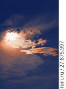 Купить «sunset with sun clouds over clouds», фото № 27875997, снято 11 декабря 2018 г. (c) PantherMedia / Фотобанк Лори