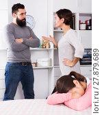 Купить «Parents arguing at home», фото № 27879689, снято 22 сентября 2018 г. (c) Яков Филимонов / Фотобанк Лори