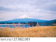 Купить «The mount Fuji in Japan», фото № 27882081, снято 23 июля 2019 г. (c) PantherMedia / Фотобанк Лори