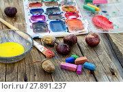 Купить «paint and autumn», фото № 27891237, снято 18 февраля 2020 г. (c) PantherMedia / Фотобанк Лори