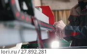 Купить «Hands of electrician engineer switching and testing equipment», видеоролик № 27892281, снято 20 марта 2019 г. (c) Константин Шишкин / Фотобанк Лори
