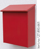 Купить «roter Briefkasten aus Holz», фото № 27893661, снято 23 мая 2019 г. (c) PantherMedia / Фотобанк Лори