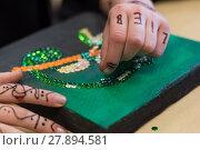 Купить «person designed mosaic image - closeup», фото № 27894581, снято 27 марта 2019 г. (c) PantherMedia / Фотобанк Лори