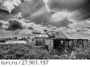 Black and White Photograph of Old Farm. Стоковое фото, фотограф Paul Fleet / PantherMedia / Фотобанк Лори