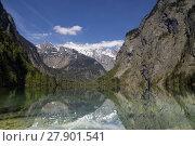 Купить «Lake Obersee near Berchtesgaden», фото № 27901541, снято 25 марта 2019 г. (c) PantherMedia / Фотобанк Лори