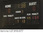 Купить «Ice Hockey Scoreboard», фото № 27910077, снято 22 февраля 2018 г. (c) PantherMedia / Фотобанк Лори